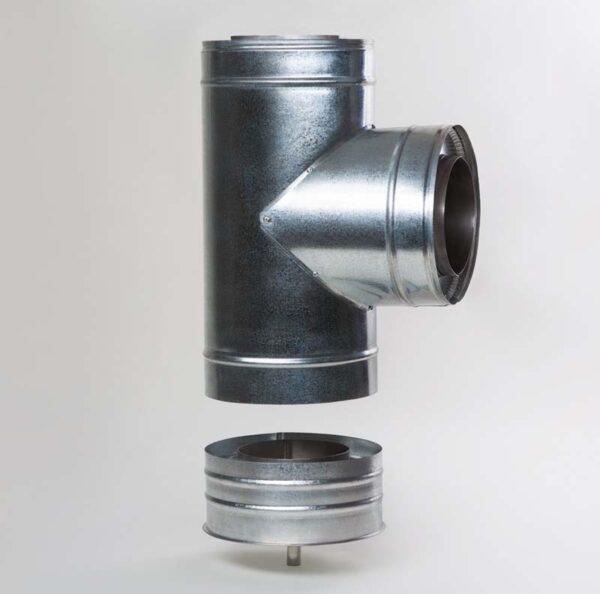 Н/ОЦ Тройник 90° двуст.s0,5 мм (AISI 304/ОЦ) d100/160 мм фото