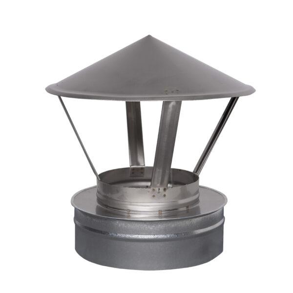 Н/ОЦ Зонт вент. двуст.s0,5 мм (AISI 304/ОЦ) d130/200 мм фото