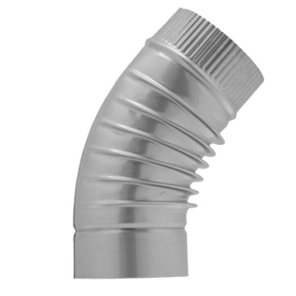 Отвод 45° d130 мм гофр. фото