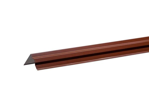 Ветровая планка 110*110 мм Коричневый RAL 8017 фото