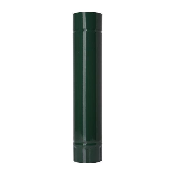 Труба вставка L0,5 м d100 мм ЗЕЛЕНАЯ RAL 6005 глянец фото