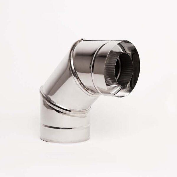 Н/Н Отвод 90° двуст.s0,5 мм (АISI 304/430) d130/200 мм фото