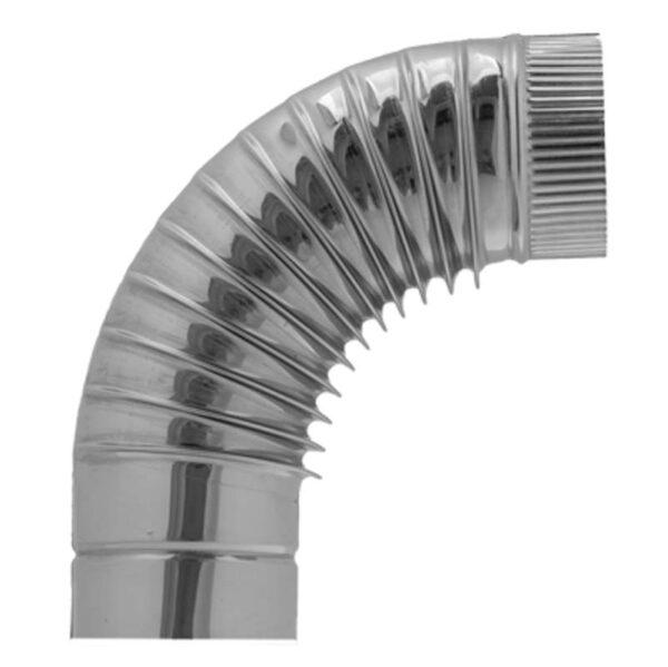 AISI 430 Отвод 90° s0,5 мм d130 мм гофр. фото