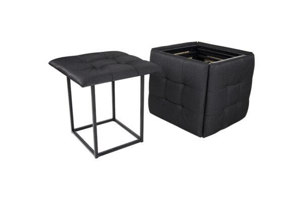 """Пуф """"Куб"""" 5 в1 (тканевый черный) фото"""