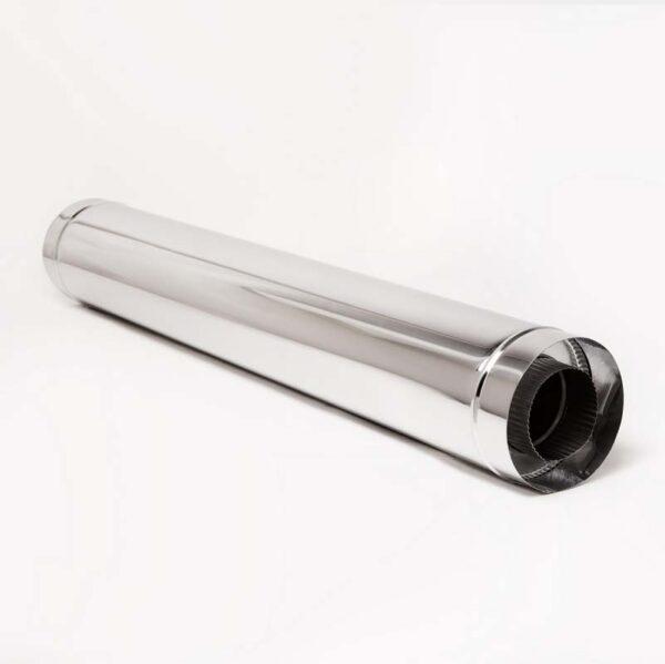 Н/Н Труба двуст.s0,5 мм (АISI 304/430) L1 м d100/160 мм термо фото