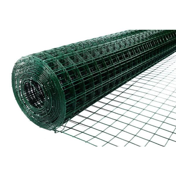 Сетка ограждения сварная Зеленая оцинкованная с ПВХ покрытием 50*50 d2.2 мм (10*1,5 м) фото