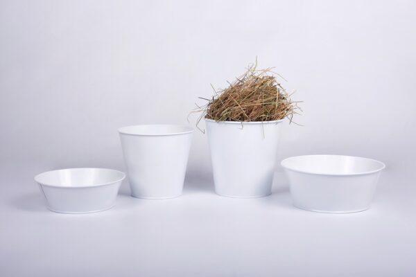 Кашпо 5л Vitan, колір Білий глянець фото
