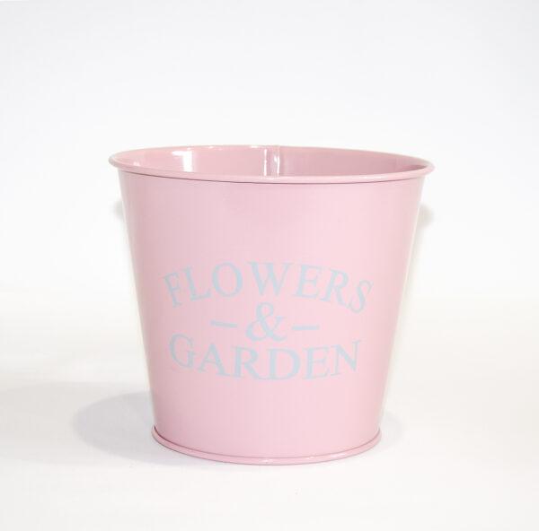 """Кашпо декоративне 1л """"FLOWERS & GARDEN"""" Vitan, колір Рожевий, 130*98*140, метал фото"""