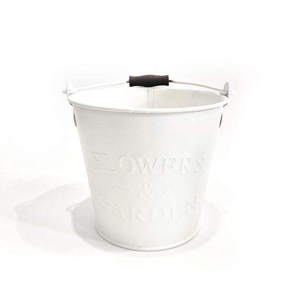"""Відро 2л з тисненням, """"FLOWERS & GARDEN"""" Vitan, колір білий фото"""