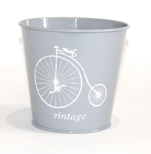 """Кашпо декоративне 1л """"Білий велосипед"""" Vitan, колір Сірий, 130*98*140, метал фото"""