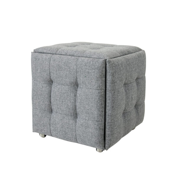 """Пуф """"Куб"""" 5 в1 (тканевый серый) фото"""