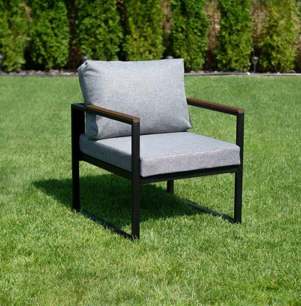 """Кресло """"Софора"""" (серый на черном) фото"""